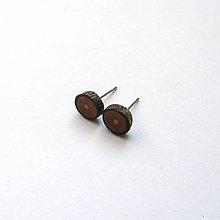 Náušnice - Drevené náušnice napichovacie - zo slivkovej halúzky - 11951309_