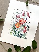 Obrazy - Maky - štúdia, originál akvarel - 11950348_