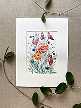 Obrazy - Maky - štúdia, originál akvarel - 11950349_