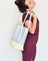 Veľké tašky - Ala (taška) strieborná -20% - 11956141_