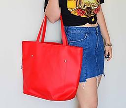 Veľké tašky - Ala (taška) červená -20% - 11956145_