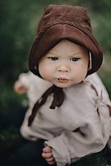 Detské čiapky - Detský čepček čokoládový - 11957042_