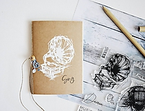 Papiernictvo - Zápisník pre milovníkov hudby (Gramofón - štorčekové strany) - 11957148_