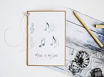 Papiernictvo - Gratulačný pozdrav - Music is my Love - 11957185_
