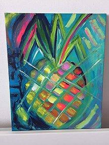 "Obrazy - Obraz,,milujem ananás"" - 11957430_"