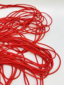 Galantéria - Klobúková guma 2,5mm červená - 11955337_