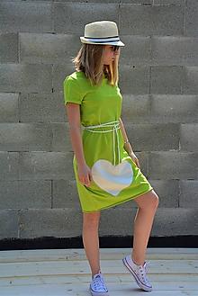 Šaty - Úpletové šaty Limoen  s opaskom - 11954900_