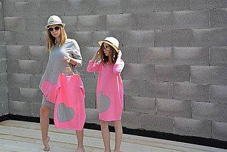 """Detské oblečenie - Teplákové šaty/tunika """"mama a dcéra"""" ♥ LENA - 11956674_"""