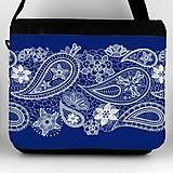 Iné tašky - Taška na plece modrá ornament 16 - 11954719_
