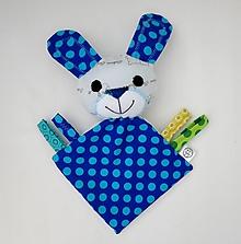 Hračky - Mojkáčik zajko - Zajačik z Modrého Bodkova - 11954328_