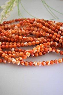Minerály - dračí oranžový achát korálky 6mm - 11958003_