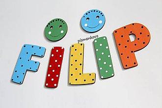 Tabuľky - Drenené písmenká farebné FILIP - 11957844_