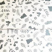 Textil - sivá detská lúka, 100 % bavlna Poľsko, šírka 160 cm - 11954565_