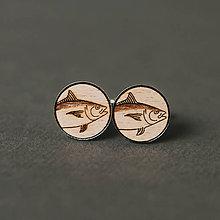 Šperky - rybky ~ manžetové gombíky (dve veľké) - 11957357_