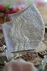Rúška - Rúško na tvár svadobné - 11957296_
