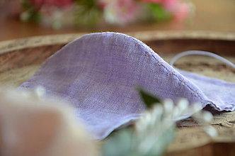 Rúška - Rúško na tvár (Fialová ľan - bavlna) - 11957485_