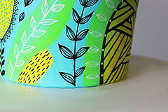 Nádoby - Terakotový kvetináč - Farebne a hravo - 11957090_