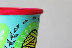 Nádoby - Terakotový kvetináč - Farebne a hravo - 11957092_