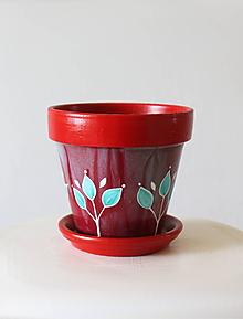 Nádoby - Terakotový kvetináč - Ruby - 11956975_