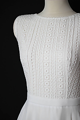"""Šaty - Svadobné šaty z hrubej """"hačkovanej"""" krajky a šifónovou sukňou - 11954519_"""