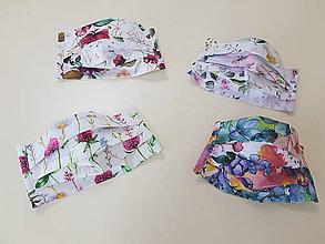 Rúška - Dizajnové bavlnené rúško - Flowers premium - 11955067_