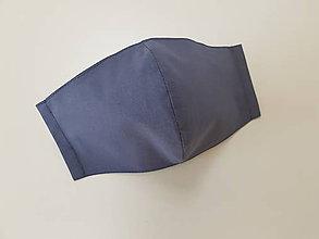 Rúška - Panske bavlnene dizajnove rusko (Tmavo šedé) - 11955125_
