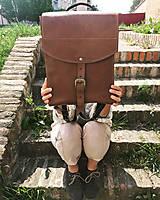Batohy - Kožený batoh - zelený farbený - 11955376_