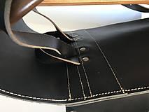 Batohy - Kožený batoh - zelený farbený - 11955379_