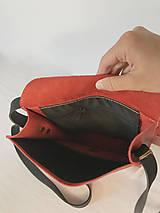 Kabelky - Kožená taška cez plece - 11956102_