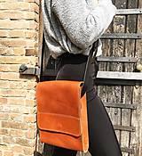 Kabelky - Kožená taška cez plece - 11956104_