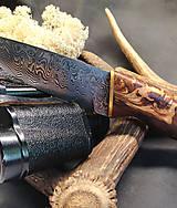 Nože - Damaškový nôž - breza - 11956156_