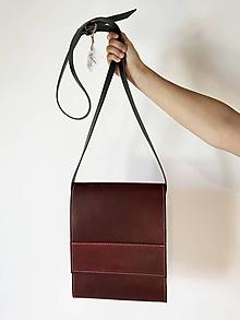Kabelky - Kožená taška cez plece - 11956101_