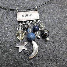 Náhrdelníky - Noc - náhrdelník - 11957774_