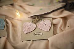 Náušnice - Macramé Náušnice - Jemná ružová - 11955072_