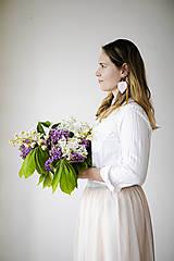 Náušnice - Macramé Náušnice - Jemná ružová - 11955075_