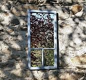 Zrkadlá - Trojdielne zrkadlo zo starého okna - 11957259_