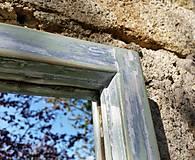 Zrkadlá - Zrkadlo zo starého okna - 11957412_