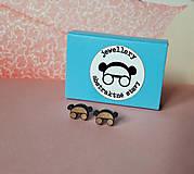 Náušnice - Drevené mini náušnice - 11955184_