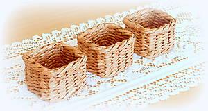Košíky - košík - hnedý  - 11956490_