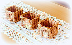 Košíky - košík - hnedý  - 11956495_