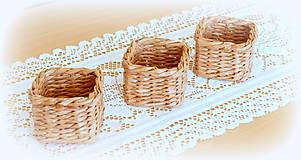 Košíky - košík - hnedý  - 11956496_