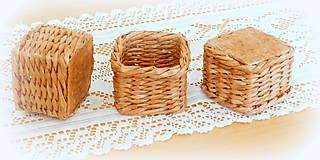Košíky - košík - hnedý  - 11956497_