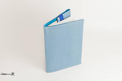 Obal na knihu otvárací - rifľový