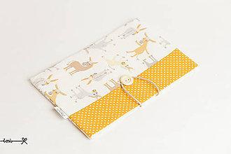 Papiernictvo - Obal na knihu - somárik žltý - 11955231_