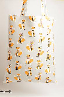 Nákupné tašky - Niečo ako EKOtaška - líšky - 11955484_