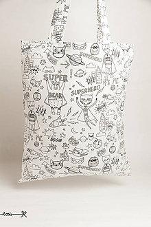 Nákupné tašky - Niečo ako EKOtaška - superhero - 11955511_