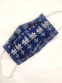Rúška - Jednovrstvové bavlnené rúško - Čičmany (rôzne farby) - 11955713_