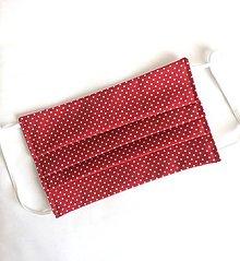 Rúška - Jednovrstvové bavlnené rúško - bodkované (rôzne farby) - 11955734_