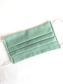 Rúška - Dvojvrstvové bavlnené rúško - bodkované (rôzne farby) - 11955771_