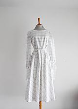 Šaty - Bavlnené kárované šaty s elastickým pásom  - 11958357_